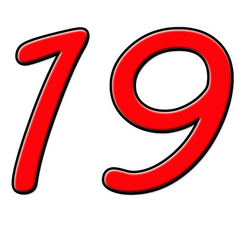 19 dezenove; dezanove* (Port.) / 十九 shíjiŭ