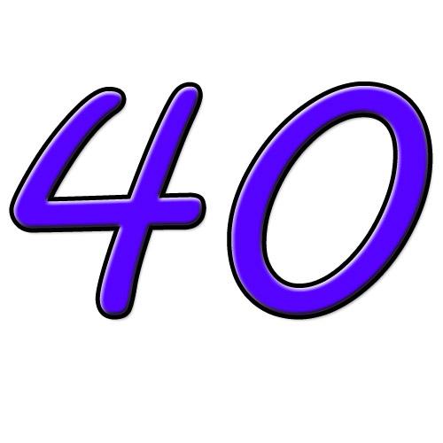 40 quarenta / cuarenta